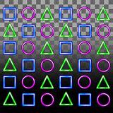 Glowing neon seamless pattern.