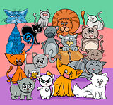 comics cats cartoon characters group