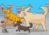 cartoon running dogs animal characters