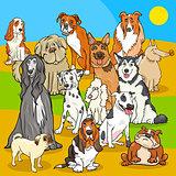 pedigree dogs cartoon characters group
