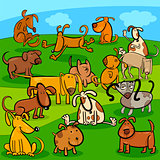 comics dogs cartoon characters group