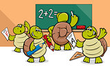 turtle cartoon characters in classroom