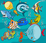 fish cartoon characters group