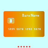 Bank cit card it is icon .