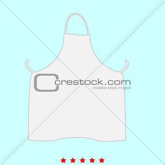 Kitchen apron it is icon .
