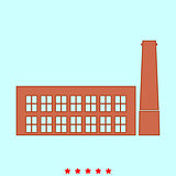 Industrial building factory it is icon .
