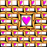 Valentine's Day image the form of a square