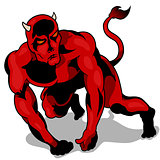 Muscular Red Devil