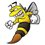 Bee Cartoon Illustration