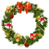 Vector Christmas Wreath with Red Bow