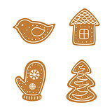 Set of Christmas gingerbread