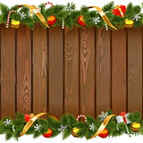 Vector Seamless Christmas Board with Decorations