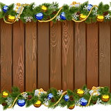 Vector Seamless Christmas Board with Golden Beads