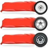 Vector Wheels with Banner