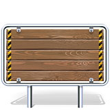 Vector Wooden Industrial Billboard