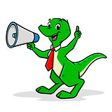 Cartoon Shouting Dino