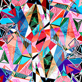 Abstract watercolor background polygon