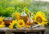 Natural Homemade sunflower oil.