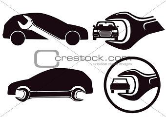 car repair Workshop with tool