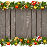 Vector Seamless Christmas Old Wooden Board