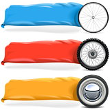 Vector Wheels with Banner Set 2