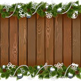 Vector Seamless Christmas Board with Silver Decorations