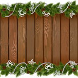 Vector Seamless Christmas Board with White Decorations