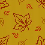Vector Autumn Knitted Pattern 2