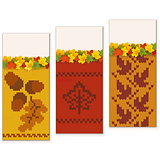 Vector Autumn Knitted Banners Set 2