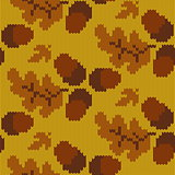 Vector Autumn Knitted Pattern 3