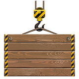 Vector Wooden Frame with Crane Hook