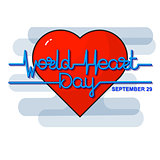 World Heart Day Background. Vector illustration.