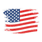 USA Flag Grunge Background. Can Be Used as Banner or Poster. Vec