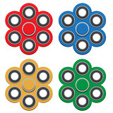 Set of Spinner. New popular anti-stress toy. Vector Illustration.