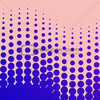 abstract vector halftone background