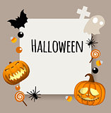 Happy Halloween background. Place for your text. Rectangular area for text.