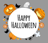 Happy Halloween background. Place for your text. Round area for text.