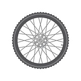 Black metallic bicycle wheel