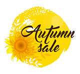 Background for autumn sale