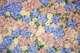 background, wall of flowers
