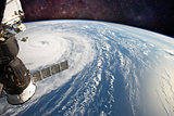 Hurricane from Space Station. Elements of this image are furnished by NASA