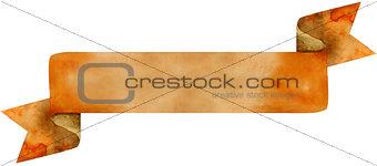 Watercolor brown banner