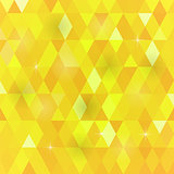 Yellow Geometric Retro Mosaic Pattern
