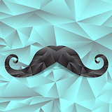Black Polygonal Mustache