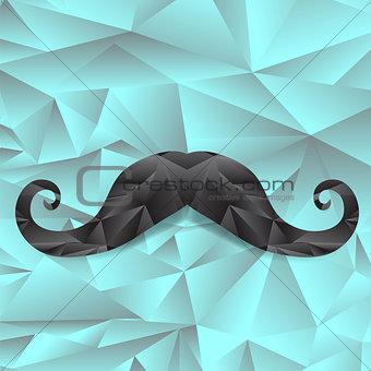 Black Polygonal Mustache