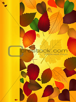 Autumn Background portrait with copy space panel