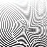 Spiral rotation lines design.
