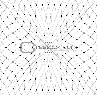 3D net pattern. Mesh texture.