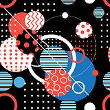 Seamless geometric graphic pattern
