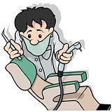 Dentist Holding Drill